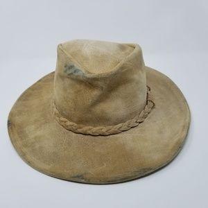 Minnetonka Outback Distressed LeatherTan Hat Boho